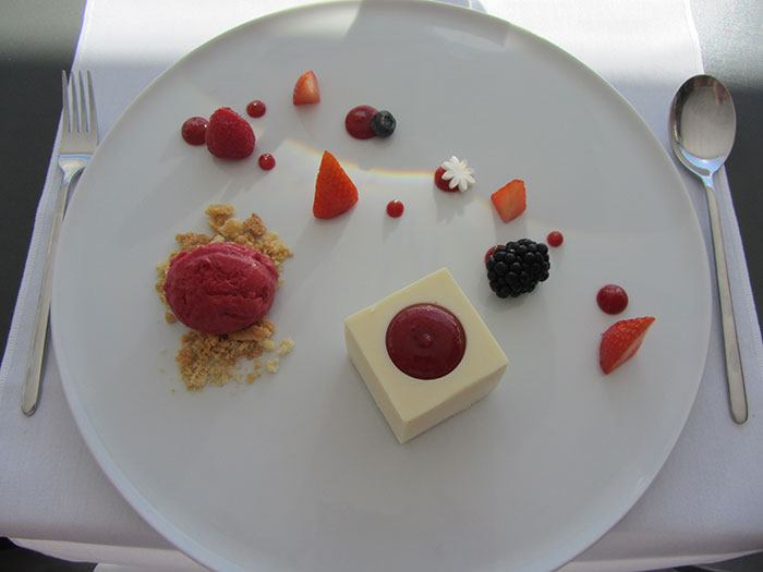 Raspberry panna cotta (image: Angela Griffin)