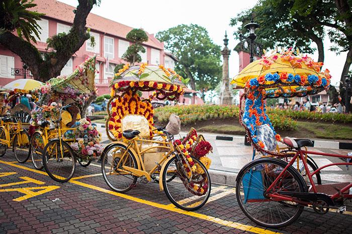Rickshaws in Malacca, Malaysia
