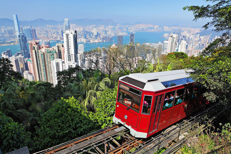 Tram to The Peak, Hong Kong