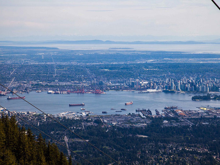 View from Grouse Mountain, Vancouver