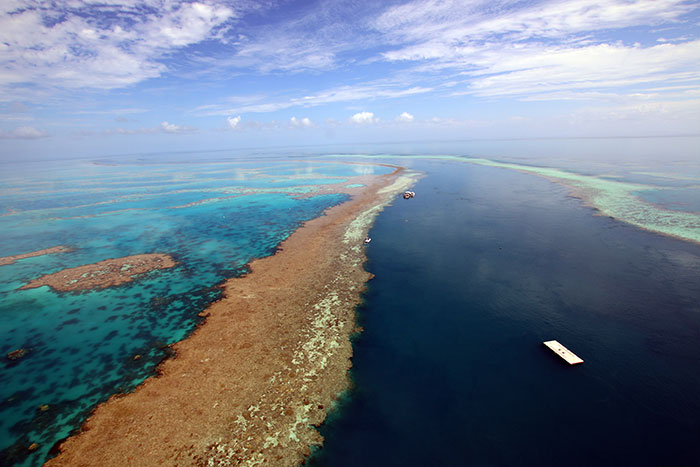 The edge of Hardy Reef