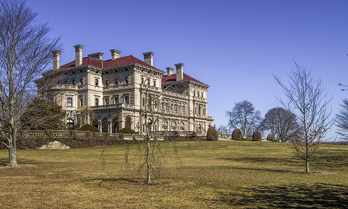 A mansion along the historic Newport Cliff Walk