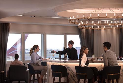 Qantas London Heathrow lounge - cocktail bar