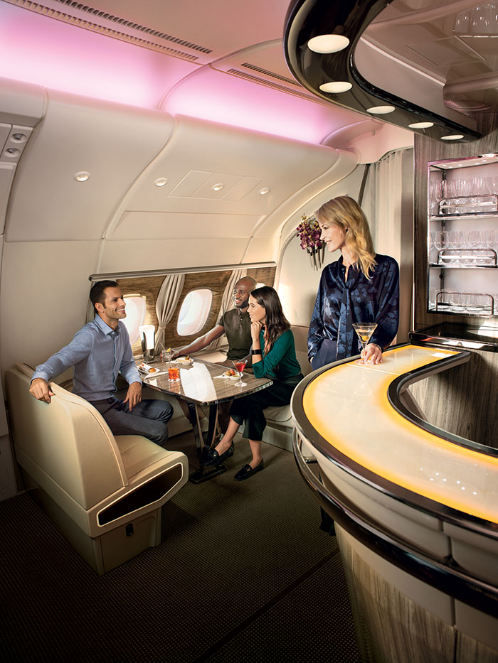 A380 lounge onboard - Emirates
