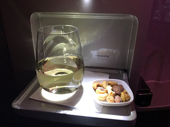 Air New Zealand Business Premier mid-flight snack