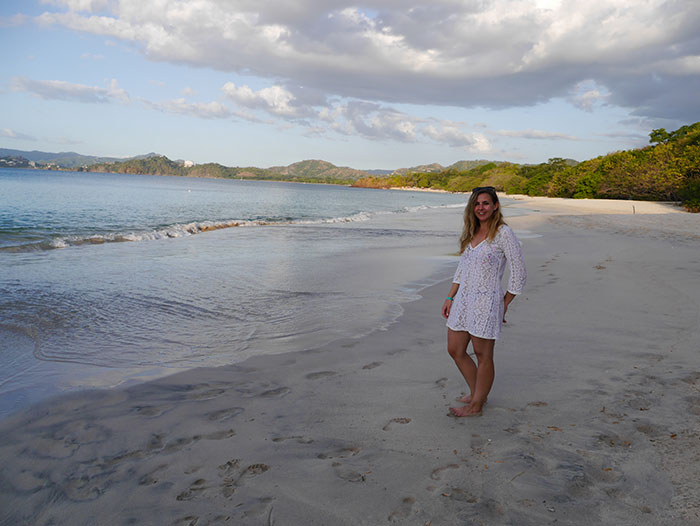 Alex on the beach, Playa Conchal, Guanacaste (image: Bradley Cronin)