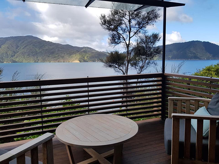 Bedroom balcony, Bay of Many Coves, New Zealand
