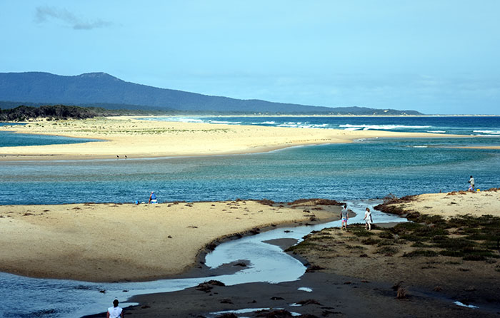 The beach at Mallacoota, Victoria, Australia