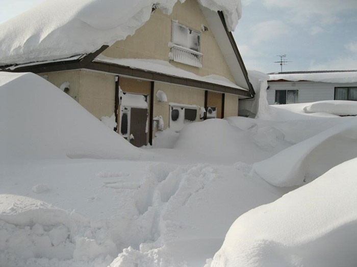 The aftermath of a blizzard in Hokkaido