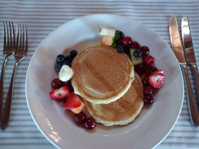 Buttermilk pancakes with fruit (image: Angela Griffin)
