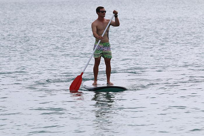 Stand-up paddleboarding at Catseye Beach