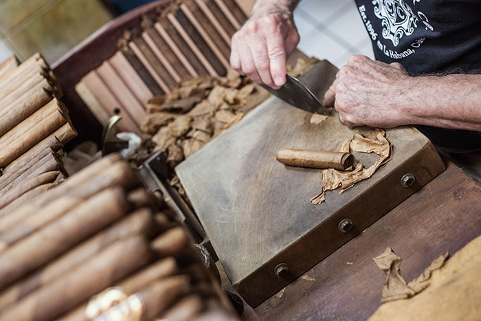 Cigar making in Little Havana, Miami