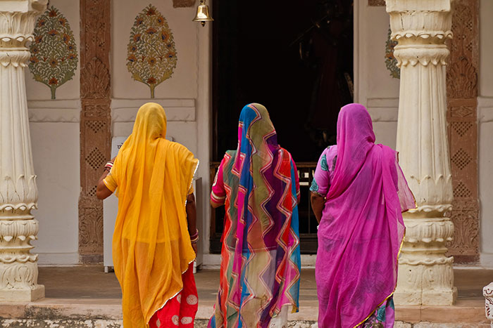 Colourful dresses, India