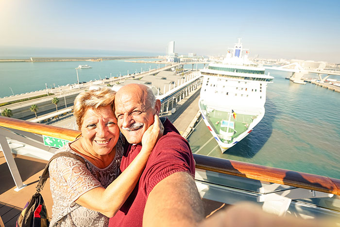 Couple on a cruising holiday