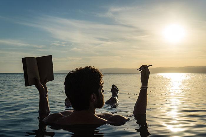 Dead sea dip, Ross Jennings