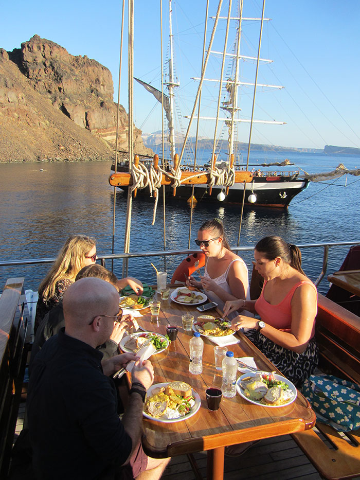 Dinner onboard the Aphrodite (image: Angela Griffin)