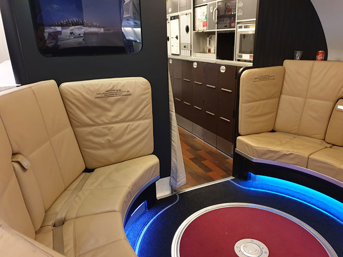 The Lounge onboard the A380