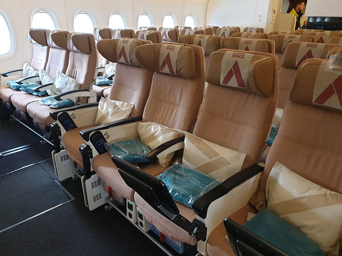 Economy Space onboard the A380