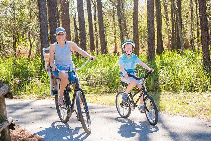 Family bike ride in Florida