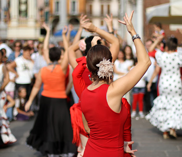 Flamenco dancing in Spain