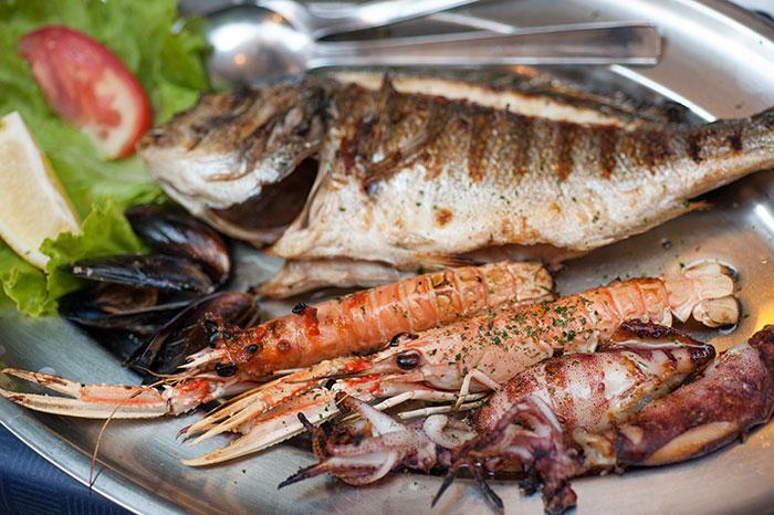 Fresh seafood, Dubrovnik