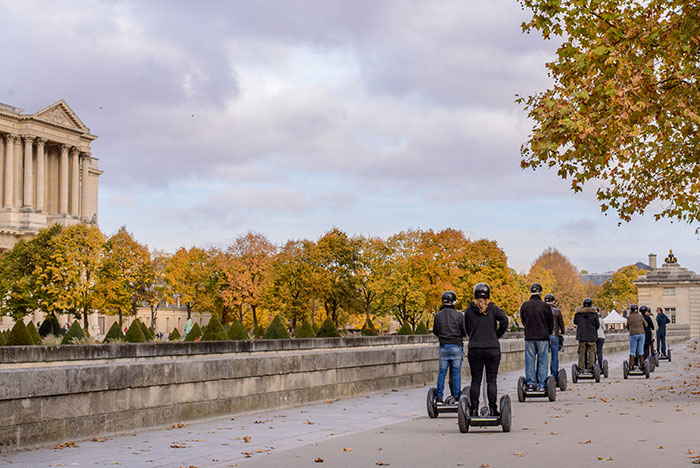 Group tour, segway, Paris