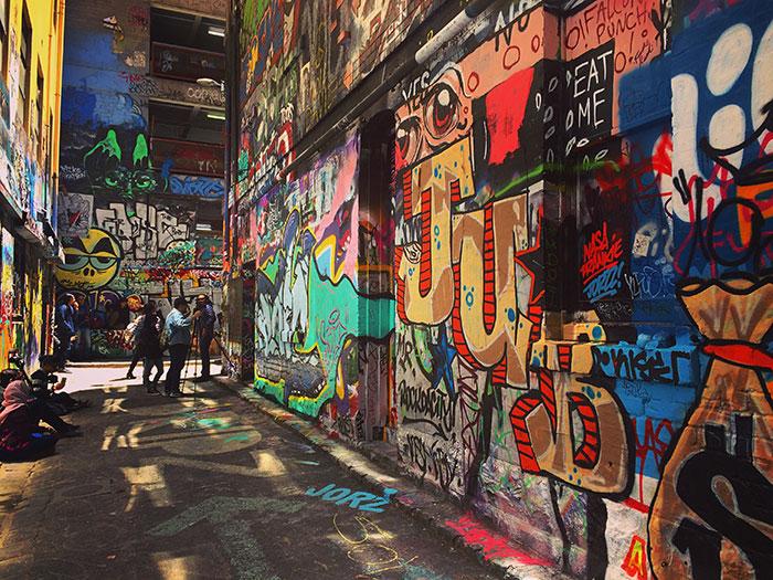 Street art in Melbourne (image: Hayley Lewis)