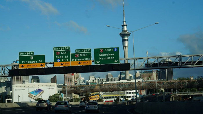 Highway in Auckland