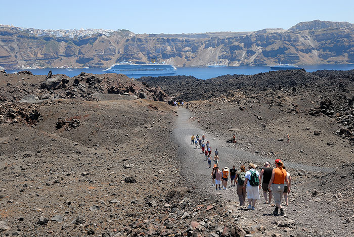 The Santorini caldera (image: Angela Griffin)