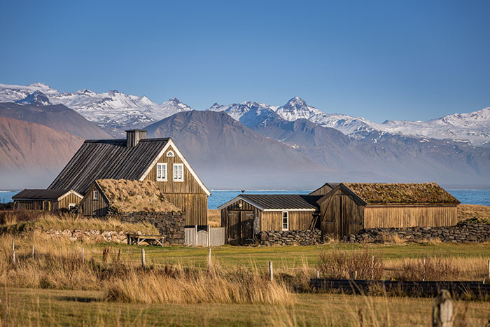An Icelandic farm