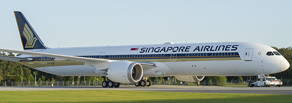 Singapore Airlines new Boeing 787-Dreamliner