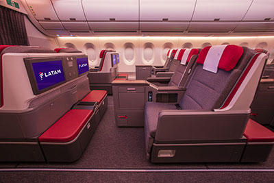 LATAM Airlines Premium Business seating