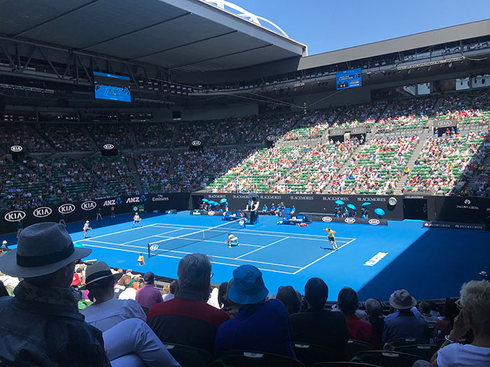 Men's doubles match at the Australian Open, Melbourne