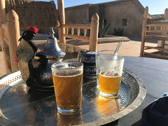 Try mint tea in Fez