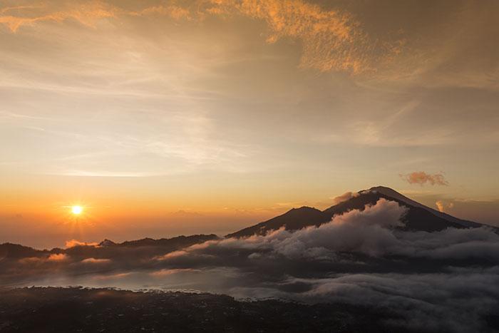 Mount Batur at sunrise, Bali