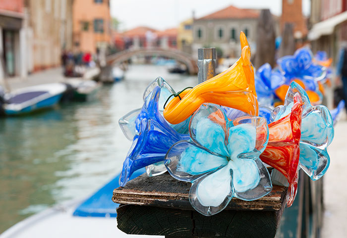 Murano glass in Murano, Venice, Italy