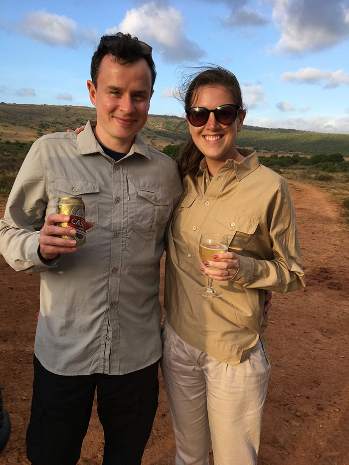 Becky Duffin on safari, South Africa
