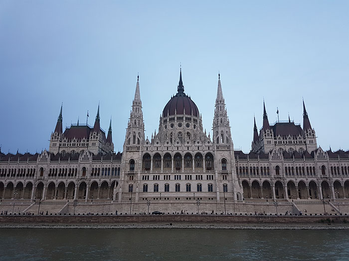 Parliament Building from a Danube river cruise (image: Alexandra Gregg)