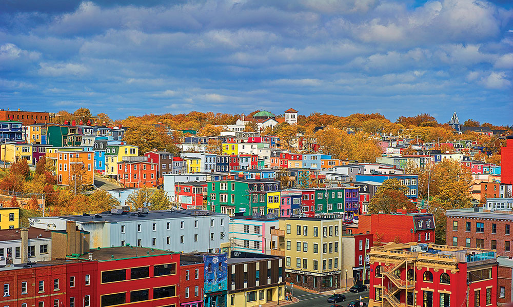 Colourful houses in St John's, Newfoundland