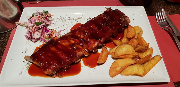 Ribs at Ribs n Beer in Bruges