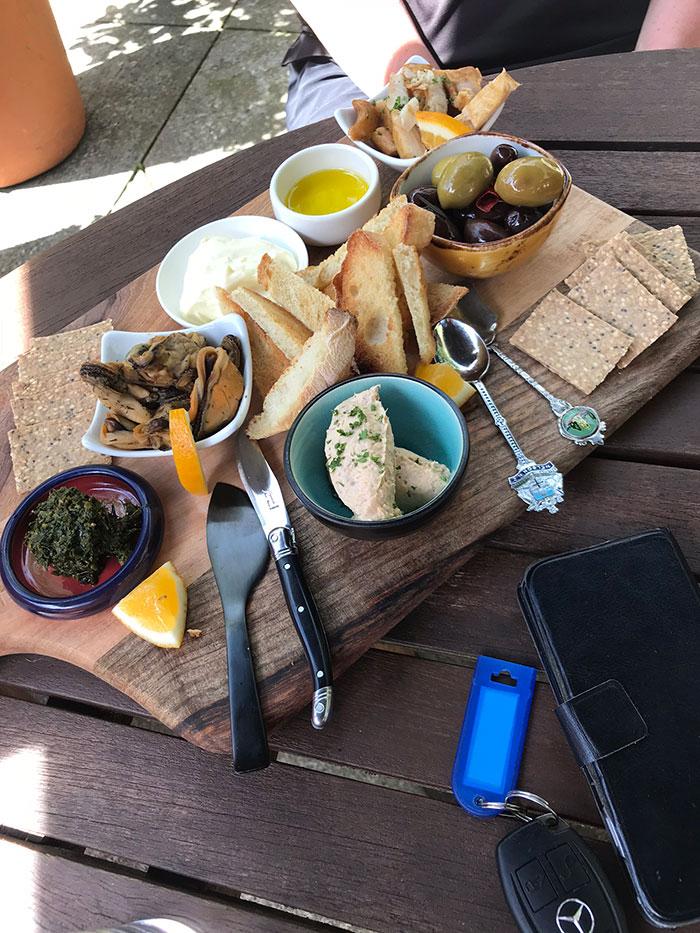 Seafood platter, Kahurangi Estate
