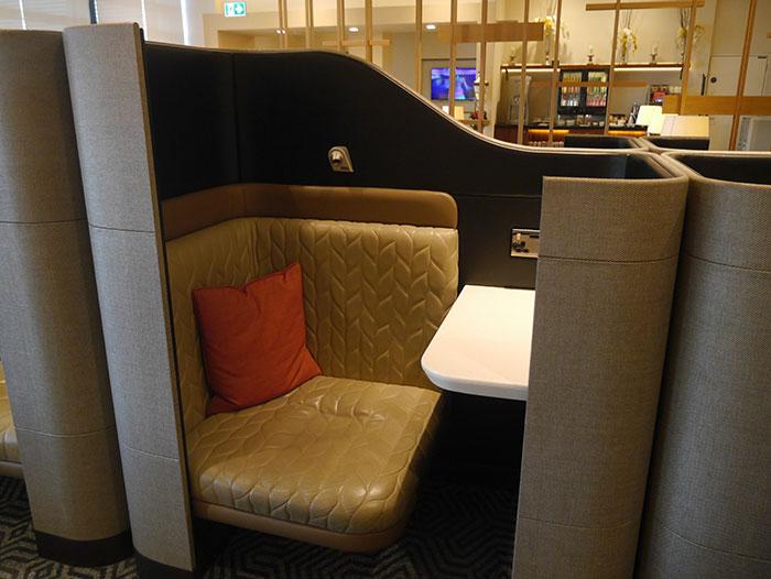 Singapore Airlines SilverKris Lounge, London Heathrow, pod seating