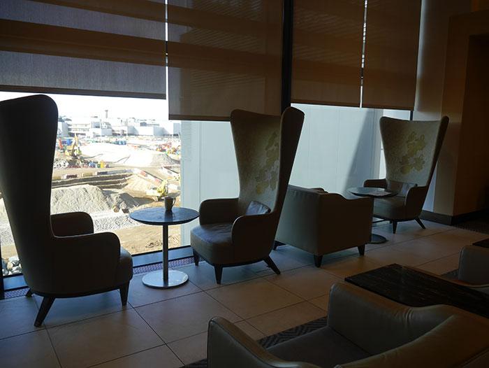 Singapore Airlines SilverKris Lounge, London Heathrow, window seating