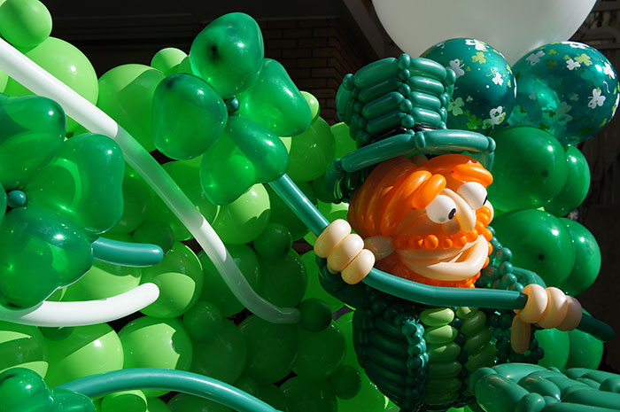 St Patrick's Day balloons