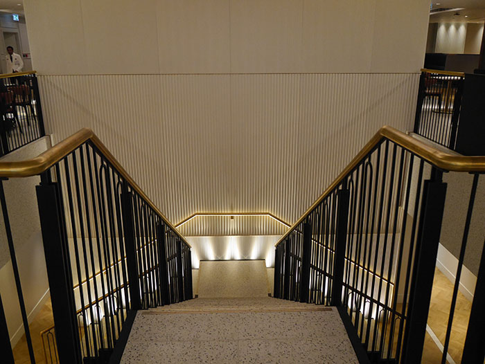 Stairs in the Qantas lounge, London Heathrow