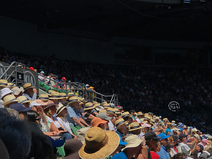Stands at the Australian Open, Melbourne