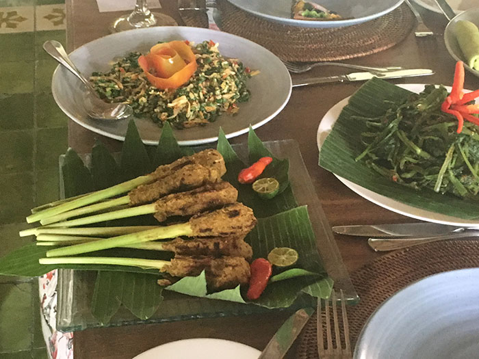 The final spread, Bali cooking class