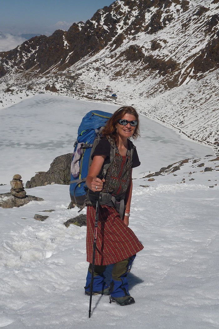 Valerie Parkinson in the Himalaya