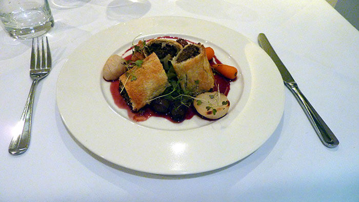 Vegan mushroom strudel at Vanilla Black, London (image: Flickr Cory Doctorow)