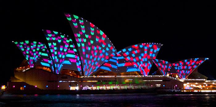 Vivid Sydney, Sydney Opera House (image: Flickr Nigel Howe)